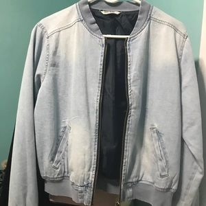Jackets & Blazers - Jean jacket/bomber jacket